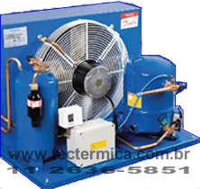 Unidade condensadora do equipamento de refrigeração
