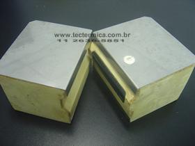 Painel frigorifico 2 faces PUR aço inoxidável 304