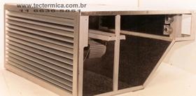 Sistema de aquecimento de ar industrial - Vista interna