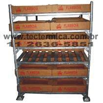 Rack metálico para túnel de congelamento
