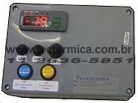 Painel de controle do equipamento frigorifico para câmara fria