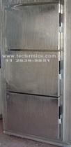 Porta frigorifica giratória e tripartida