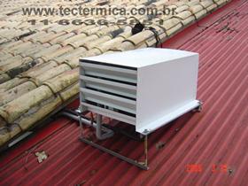 Equipamento para climatização de adega - Carenagem para condensadora modelo 2