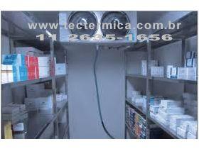 Uma Câmara frigorifica de grande porte para armazenagem dos medicamentos
